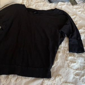 Cynthia Rowley Black Batwing Top Size Medium